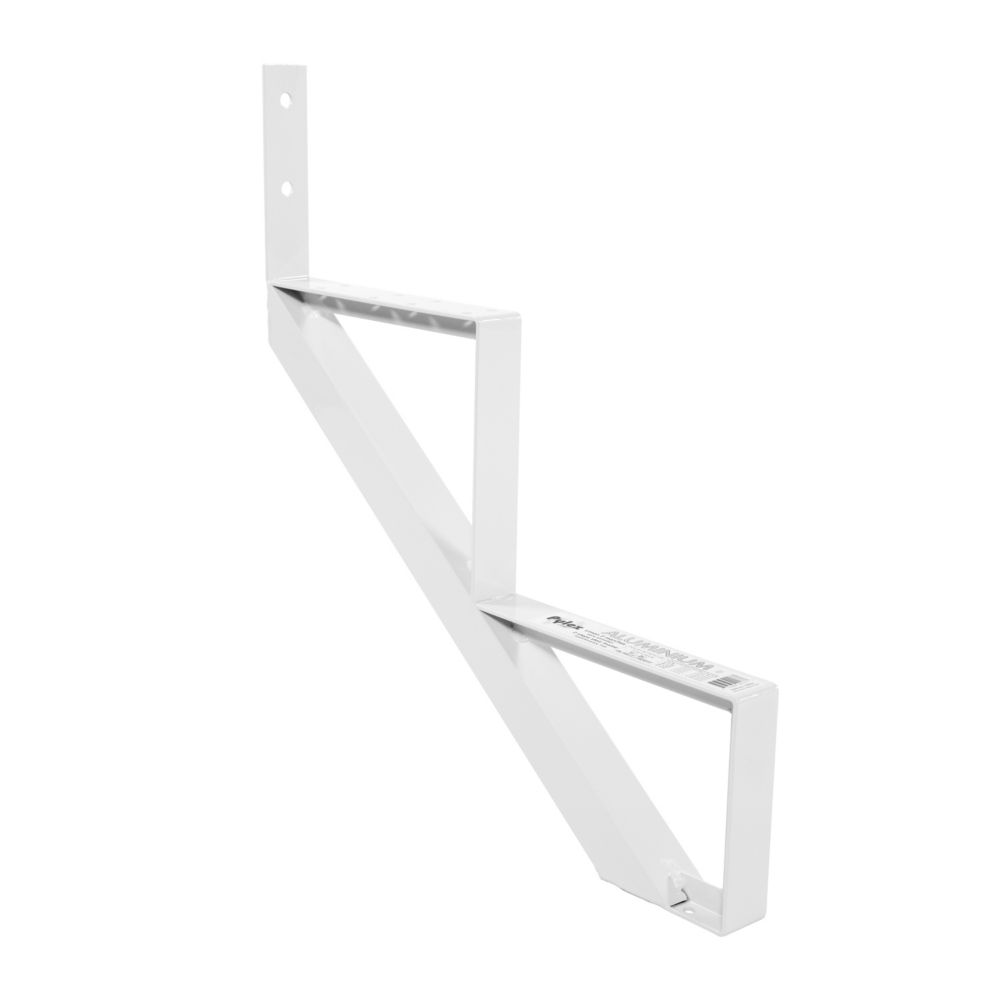 2-Steps White Aluminium Stair Riser Includes one ( 1 ) riser only