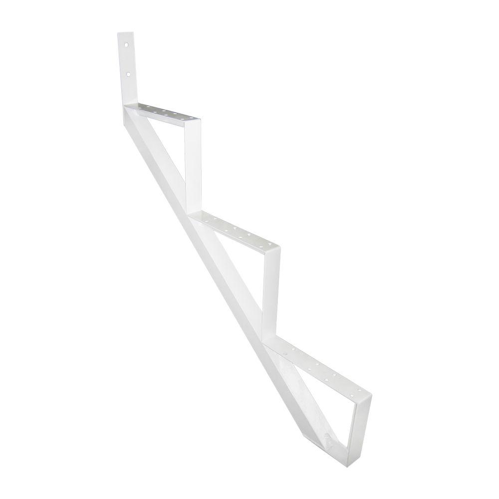 3-Steps White Aluminium Stair Riser Includes one ( 1 ) riser only