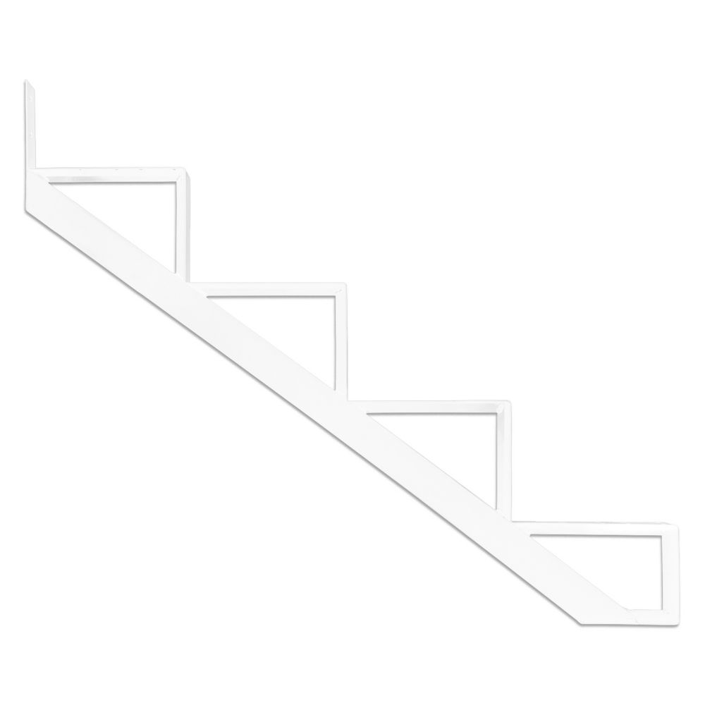4-Steps White Aluminium Stair Riser Includes one ( 1 ) riser only