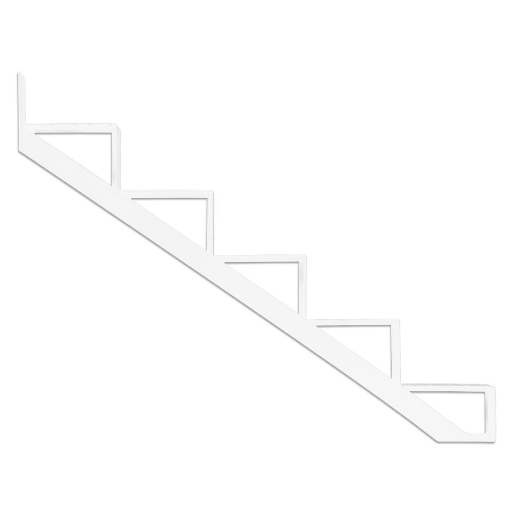 5-Steps White Aluminium Stair Riser Includes one ( 1 ) riser only