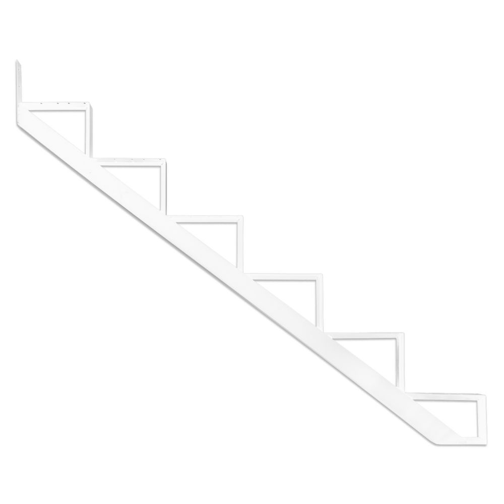 6-Steps White Aluminium Stair Riser Includes one ( 1 ) riser only