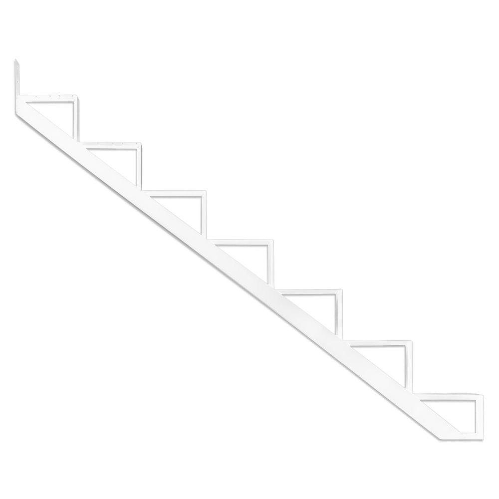 7-Steps White Aluminium Stair Riser  Includes one ( 1 ) riser only