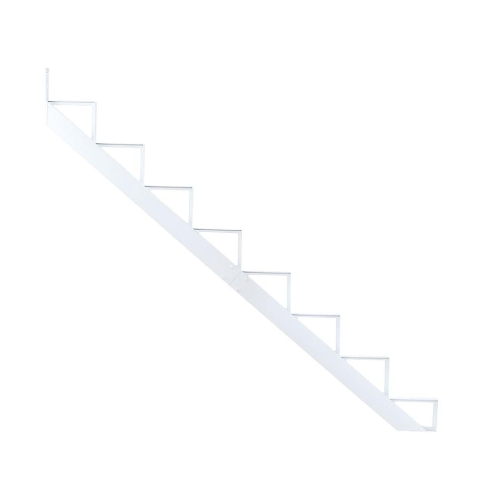 8-Steps White Aluminium Stair Riser Includes one ( 1 ) riser only