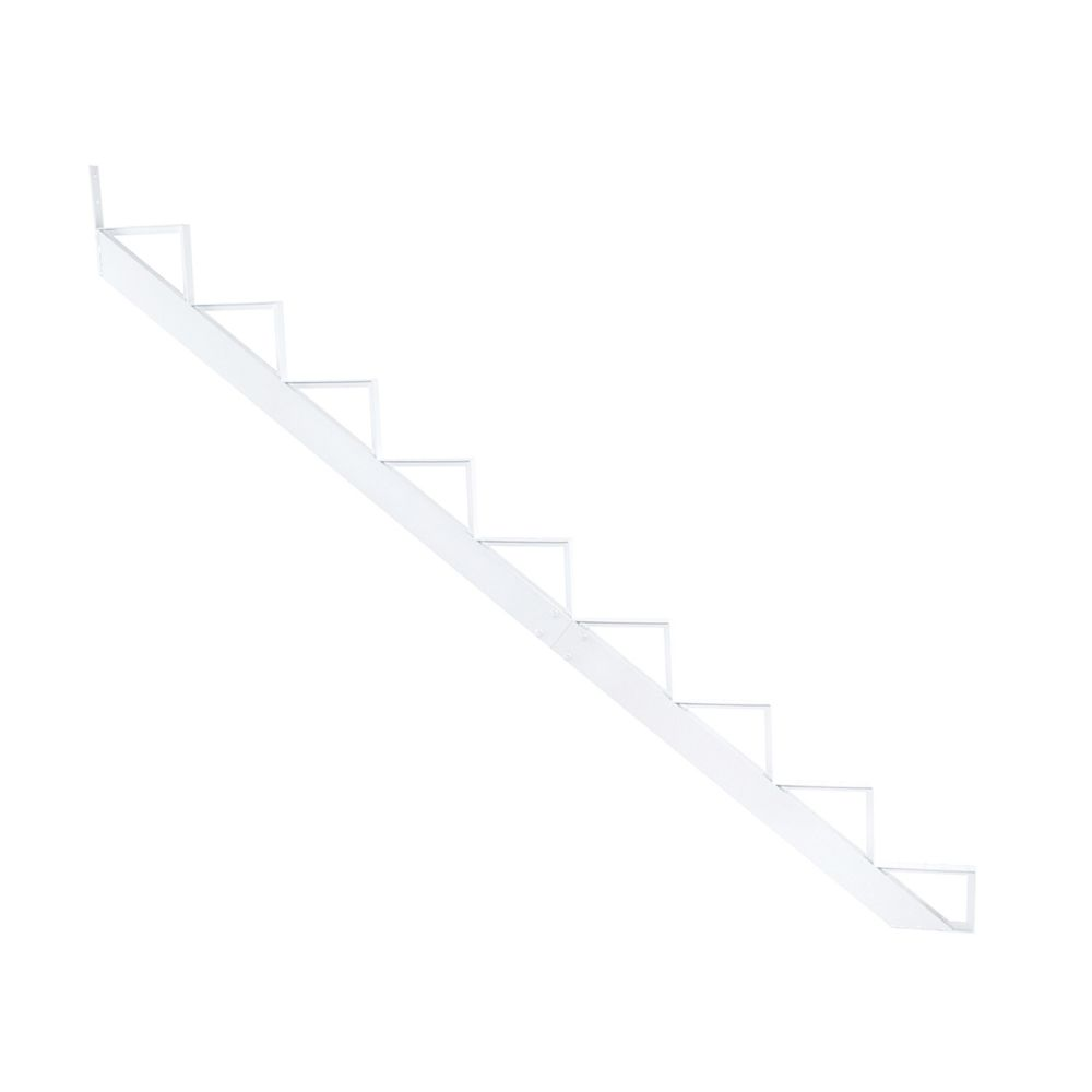 Pylex Collection 10_9 Steps Aluminum Stair Riser White_7 1/2 in x 9 1/16 in Includes one (1) riser only