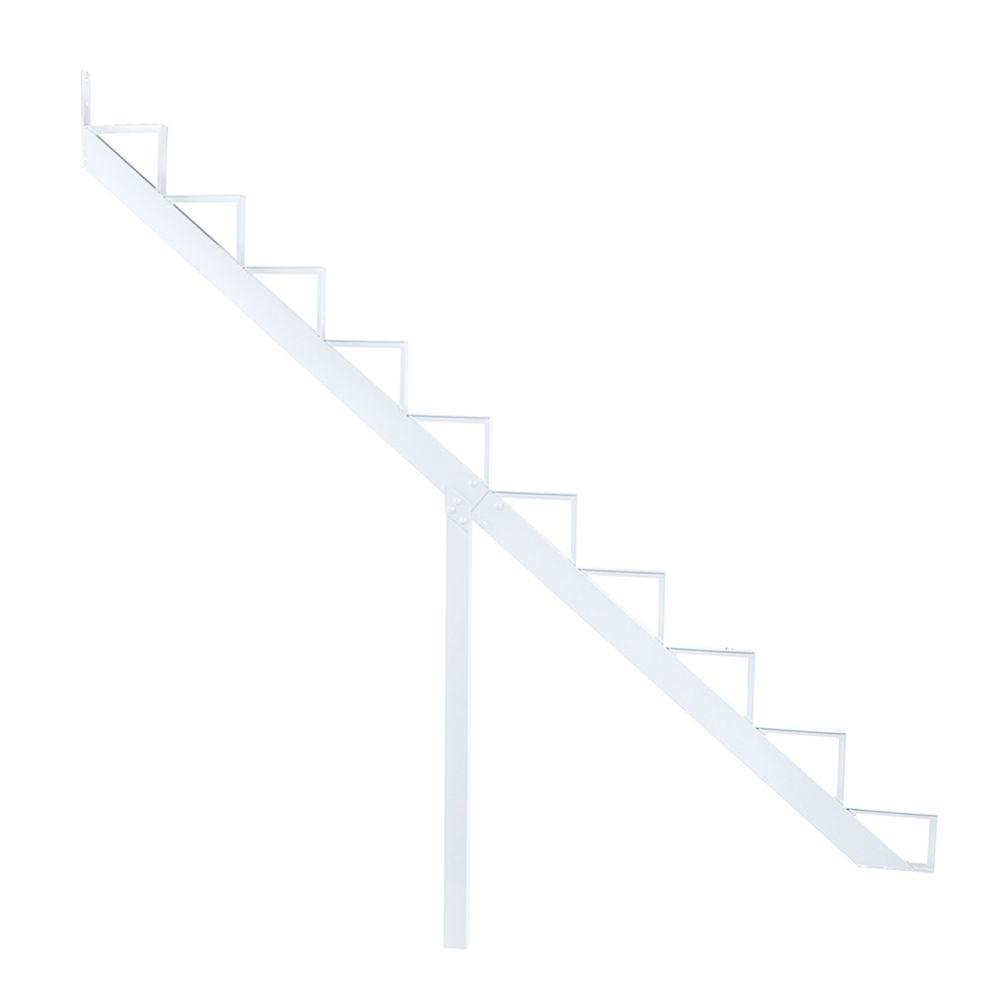 10-Steps White Aluminium Stair Riser Includes one ( 1 ) riser only