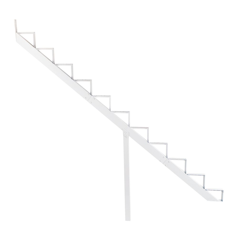 11-Steps White Aluminium Stair Riser Includes one ( 1 ) riser only