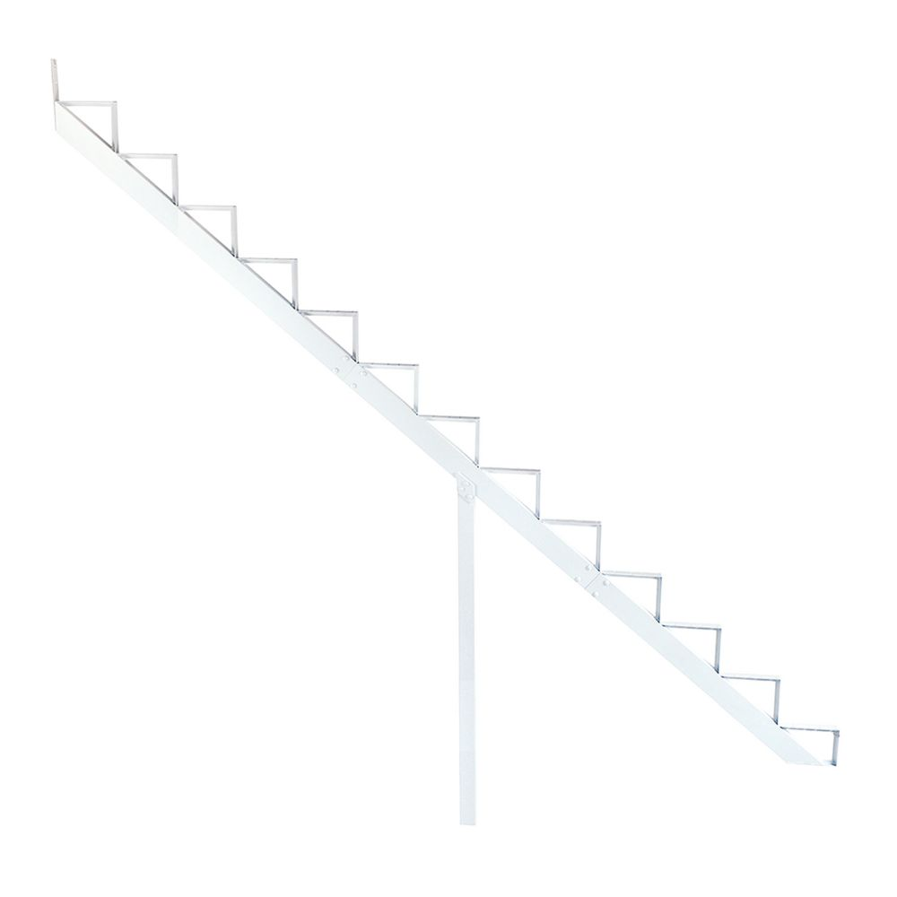 13-Steps White Aluminium Stair Riser Includes one ( 1 ) riser only