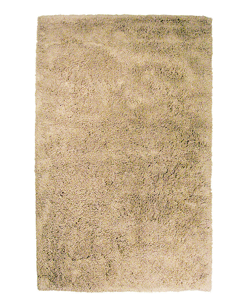 Kashmir Beige Tan 4 ft. x 6 ft. Indoor Shag Rectangular Area Rug