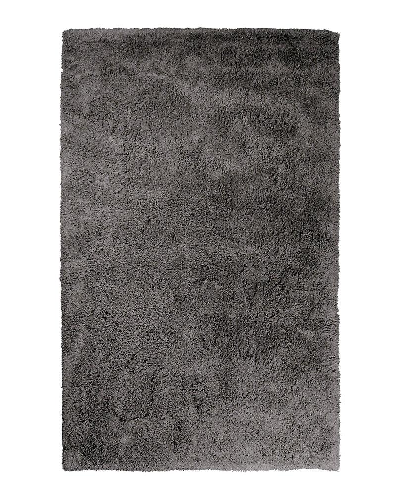 Carpette d'intérieur, 4 pi x 6 pi, à poils longs, rectangulaire, gris Kashmir