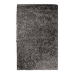 Lanart Rug Kashmir Grey 4 ft. x 6 ft. Indoor Shag Rectangular Area Rug