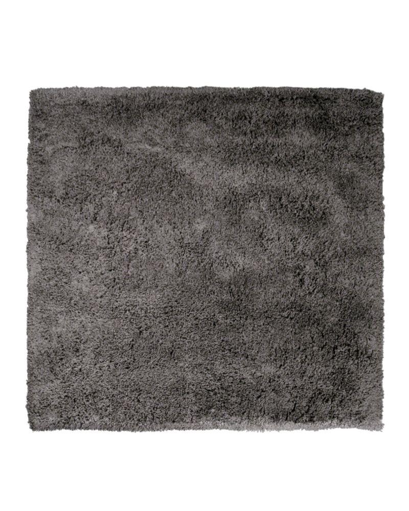 Lanart Rug Kashmir Grey 5 ft. x 5 ft. Indoor Shag Square Area Rug