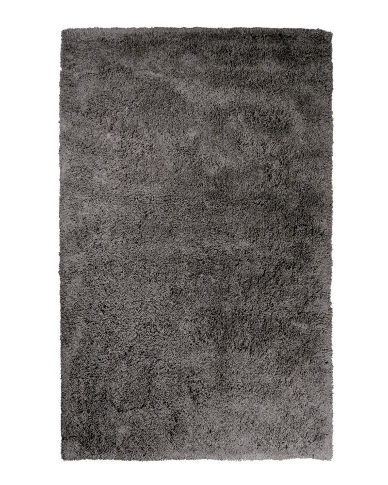 Lanart Rug Kashmir Grey 6 ft. x 9 ft. Indoor Shag Rectangular Area Rug