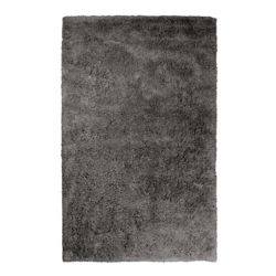 Lanart Rug Kashmir Grey 6 ft. x 9 ft. Indoor Shag Rectangular Area Rug