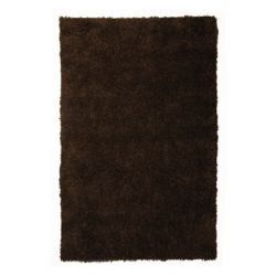 Lanart Rug Kashmir Brown 4 ft. x 6 ft. Indoor Shag Rectangular Area Rug