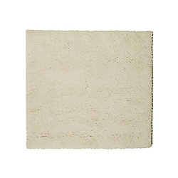 Lanart Rug Arctic Shag Off-White 5 ft. x 5 ft. Indoor Shag Square Area Rug