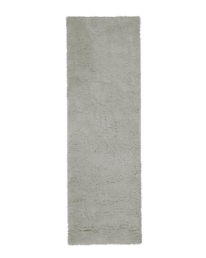 Arctic Shag Grey 2 ft. 6-inch x 8 ft. Indoor Shag Runner