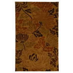 Lanart Rug Autumn Brown 4 ft. x 6 ft. Indoor Contemporary Rectangular Area Rug