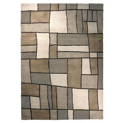 Grey Picasso Area Rug 4 Feet x 6 Feet