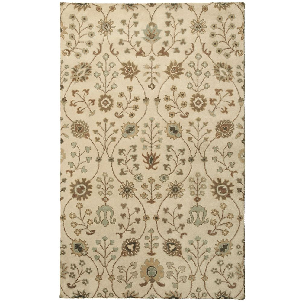 Cream Provencal  4 Ft. x 6 Ft. Area Rug