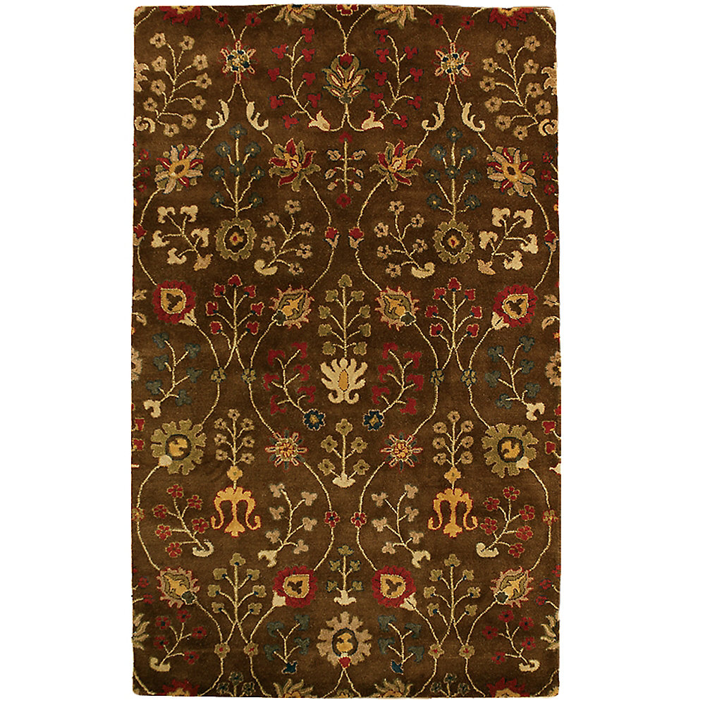 Autumn Brown 4 ft. x 6 ft. Indoor Traditional Rectangular Area Rug
