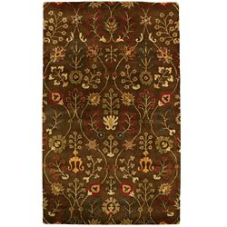 Lanart Rug Autumn Brown 4 ft. x 6 ft. Indoor Traditional Rectangular Area Rug