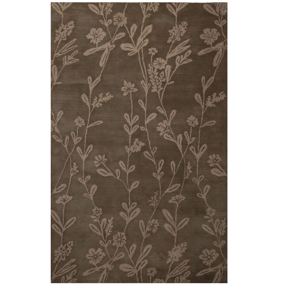 Taupe Wisteria 6 Ft. x 9 Ft. Area Rug