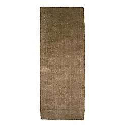 Lanart Rug Fleece Brown 2 ft. 6-inch x 8 ft. Indoor Textured Runner