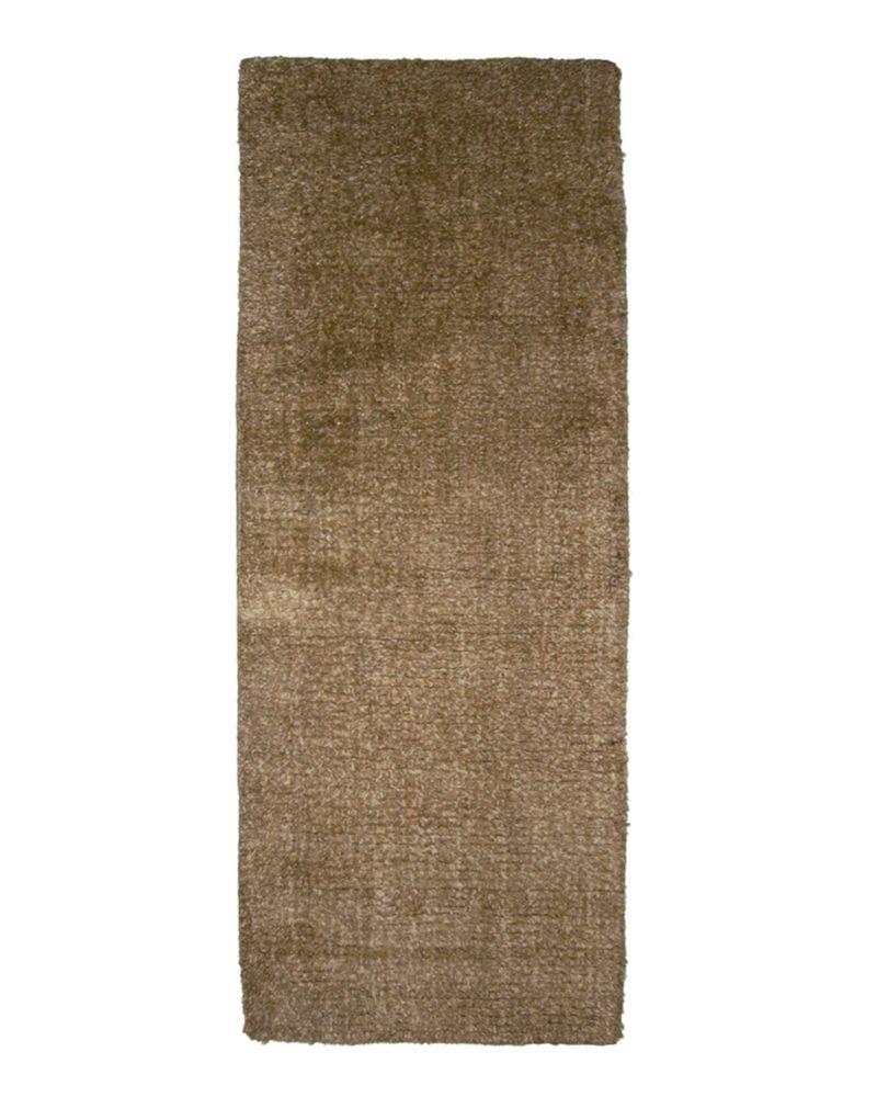 Brown Fleece 2 Ft. 6 In. x 8 Ft. Area Rug