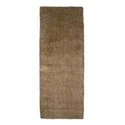 Lanart Rug Fleece Brown 2 ft. 6-inch x 8 ft. Indoor Textured Runner