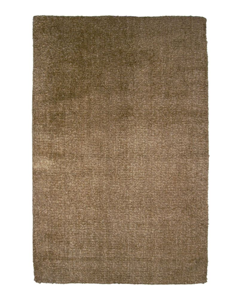 Brown Fleece 4 Ft. x 6 Ft. Area Rug