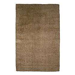 Lanart Rug Fleece Brown 4 ft. x 6 ft. Indoor Textured Rectangular Area Rug