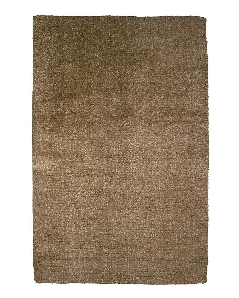Fleece Brown 6 ft. x 9 ft. Indoor Textured Rectangular Area Rug