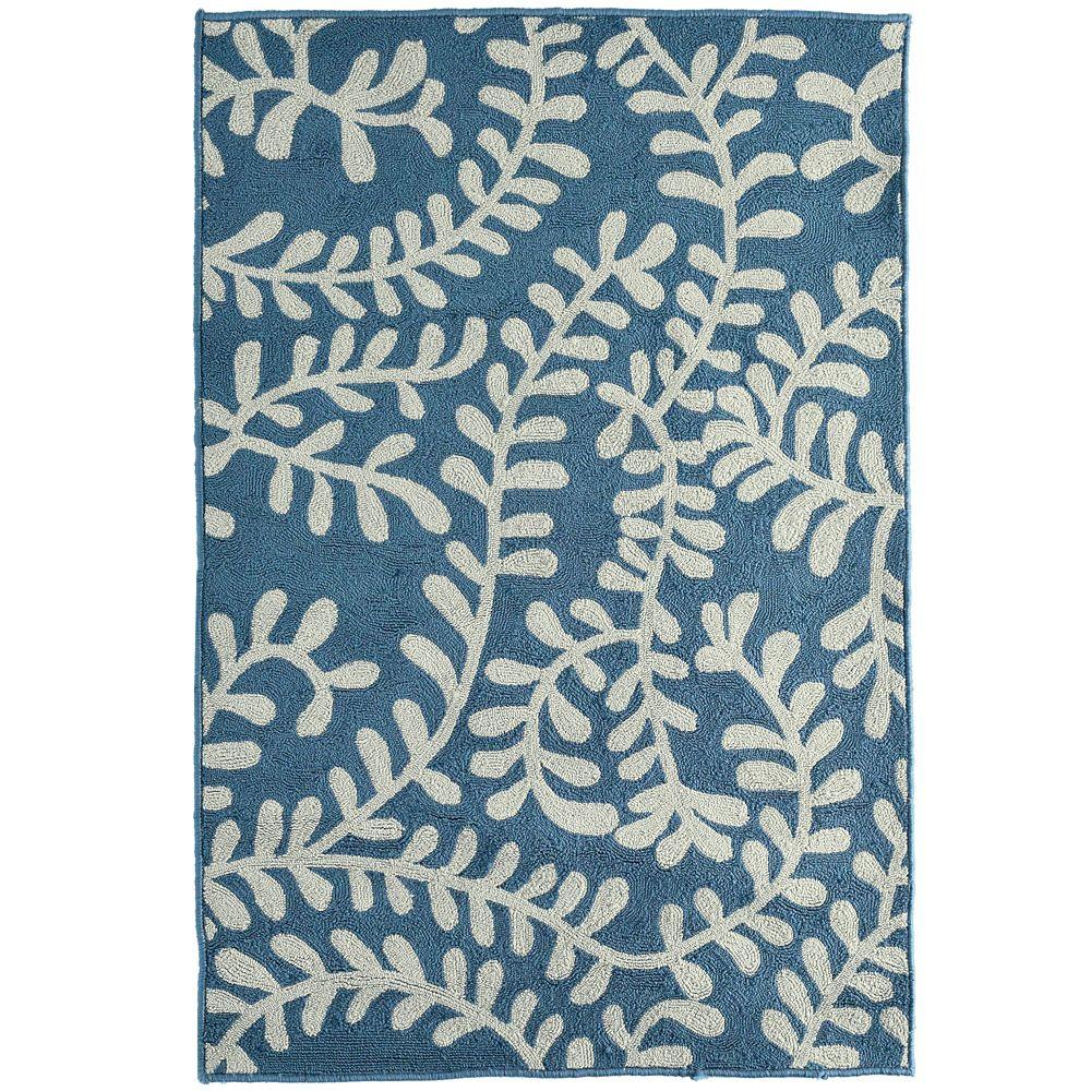 Lanart Rug Fiona Blue 9 ft. x 12 ft. Indoor Transitional Rectangular Area Rug