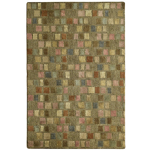 Palermo Brown 4 ft. x 6 ft. Indoor Transitional Rectangular Area Rug