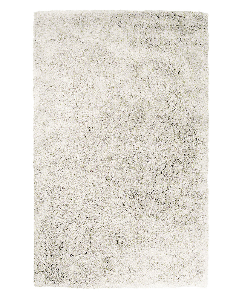 Kashmir Off-White 4 ft. x 6 ft. Indoor Shag Rectangular Area Rug