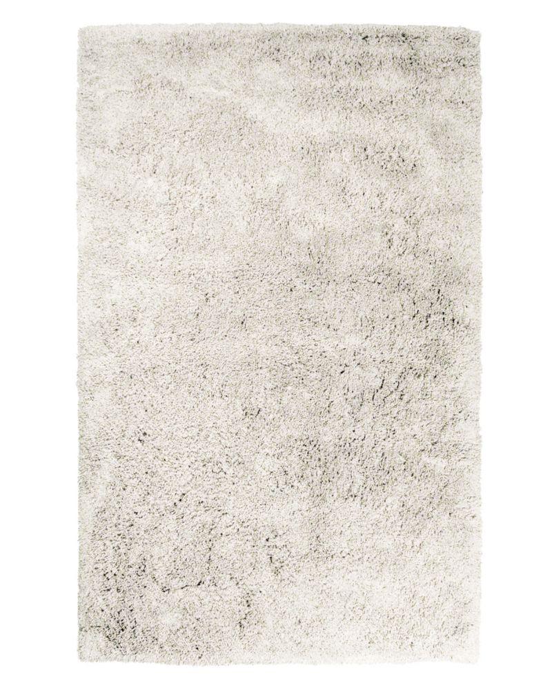 Lanart Rug Kashmir Off-White 6 ft. x 9 ft. Indoor Shag Rectangular Area Rug