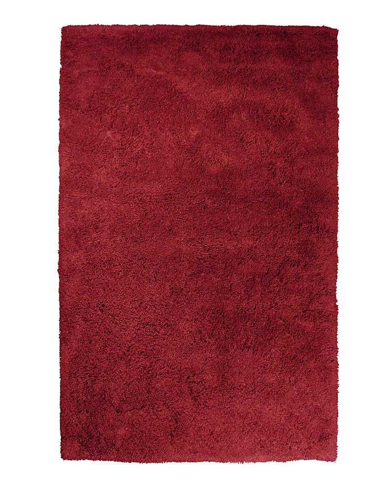 Kashmir Red 4 ft. x 6 ft. Indoor Shag Rectangular Area Rug