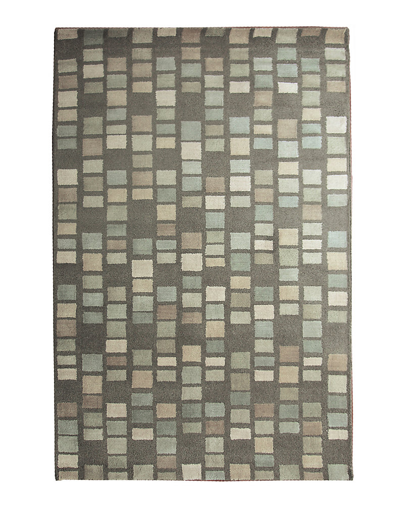 Palermo Blue 4 ft. x 6 ft. Indoor Transitional Rectangular Area Rug