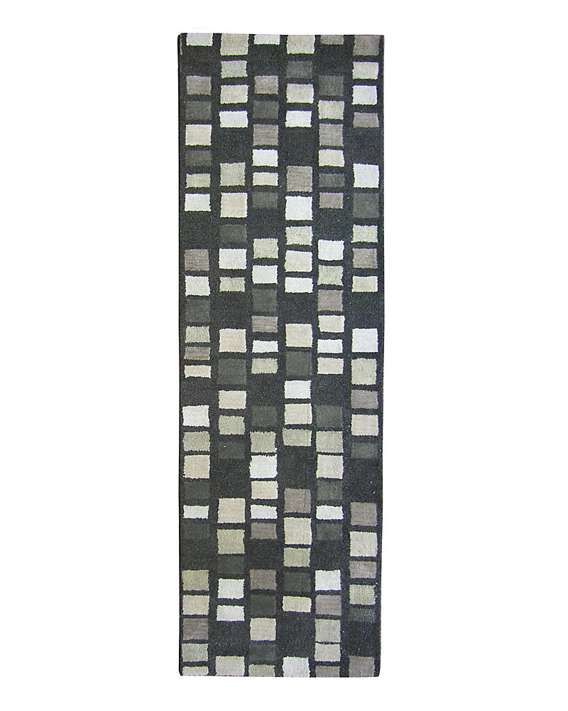 Palermo Grey 2 ft. 6-inch x 8 ft. Indoor Transitional Runner