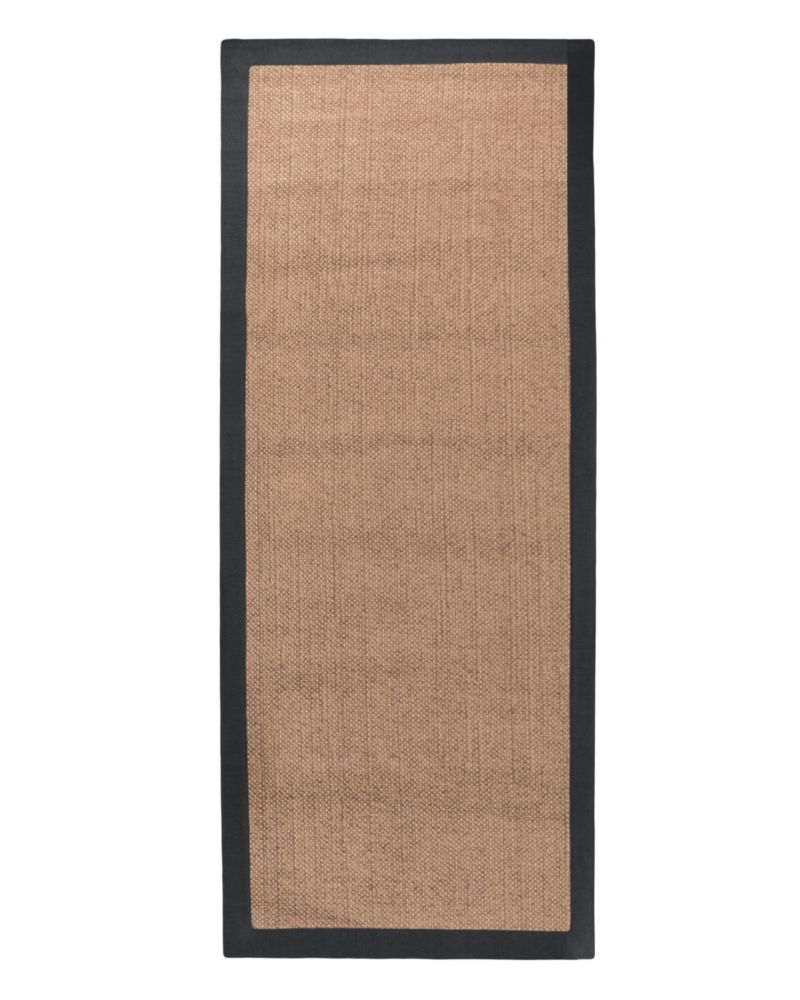 Black Chenille Sisal 2 Ft. 6 In. x 8 Ft. Area Rug