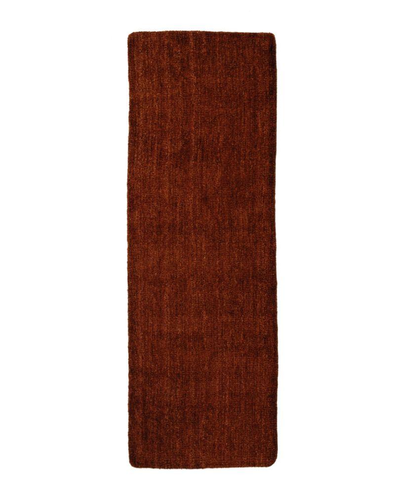 Rust Fleece 2 Ft. 6 In. x 8 Ft. Area Rug