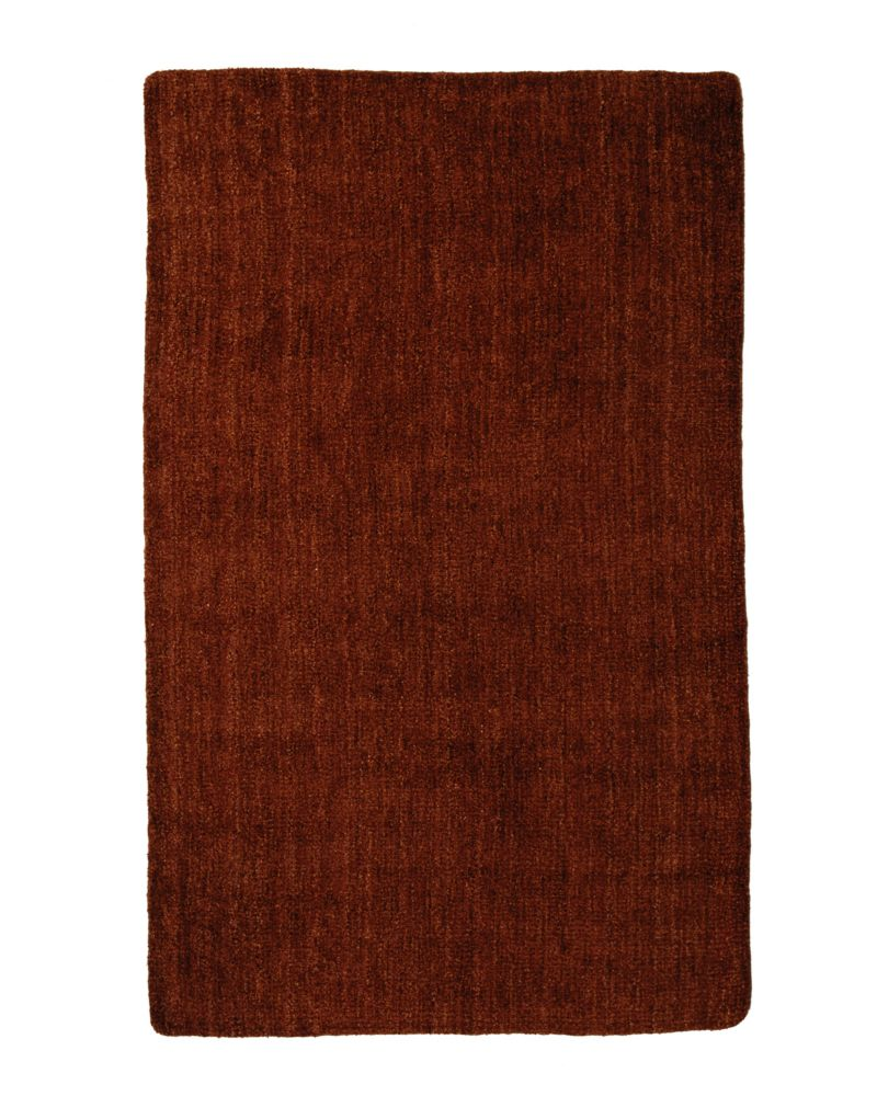 Lanart Rug Fleece Red 6 ft. x 9 ft. Indoor Textured Rectangular Area Rug