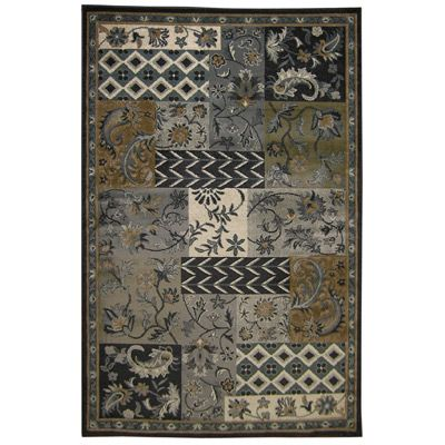 Midnight Patchwork  3 Ft. 2 In. x 5 Ft. Area Rug