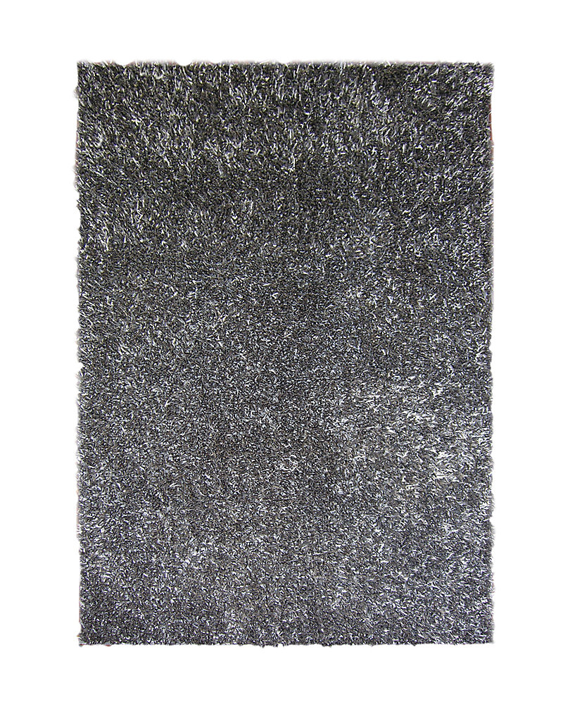 Ribbon Shag Grey 8 ft. x 10 ft. Indoor Shag Rectangular Area Rug