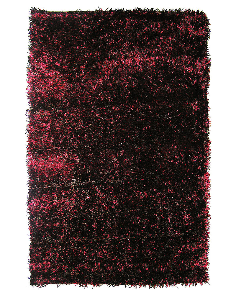 Ribbon Red 5 ft. x 7 ft. 6-inch Indoor Shag Rectangular Area Rug