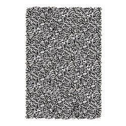 Lanart Rug Tuxedo Ribbon Grey 5 ft. x 7 ft. 6-inch Indoor Shag Rectangular Area Rug