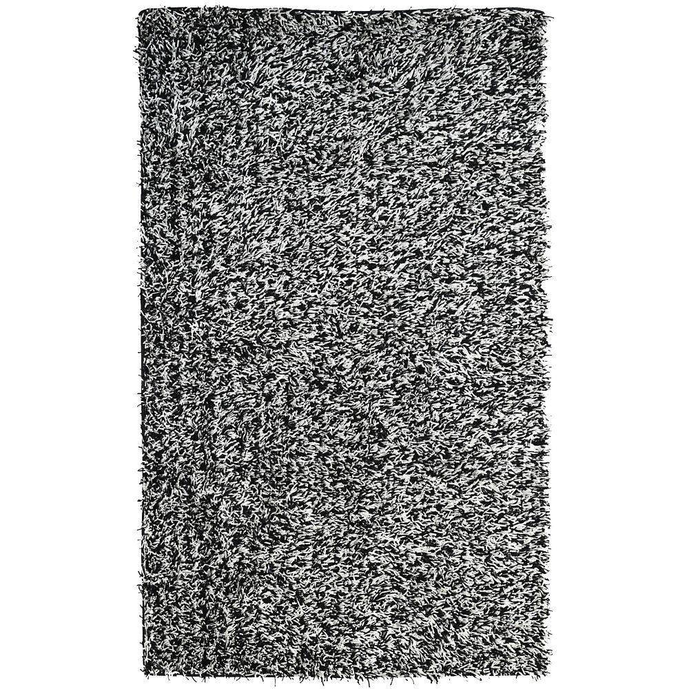 Tuxedo Ribbon Shag 8 Ft. x 10 Ft. Area Rug RIBBSHAG810BW Canada Discount