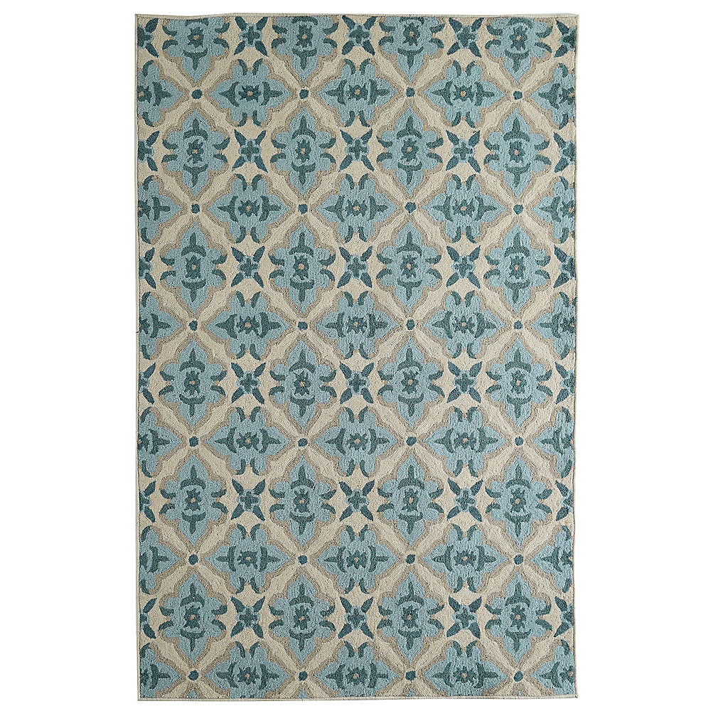 Porcelain Muskoka Blue 8 ft. x 10 ft. Indoor Transitional Rectangular Area Rug