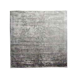 Lanart Rug Luminous Grey 5 ft. x 5 ft. Indoor Textured Square Area Rug
