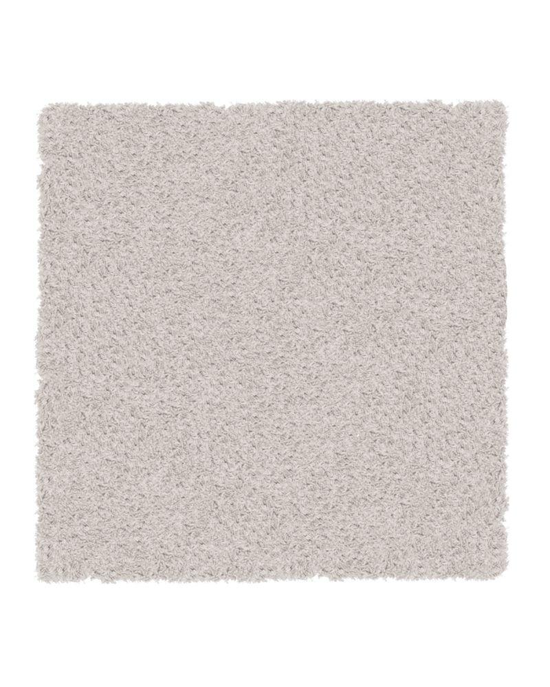 Tapis Blanc Shag-a-liscious Tapis 5 Pi. x 5 Pi.